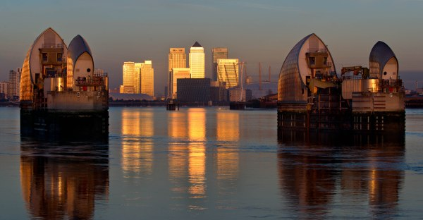 Thames Barrier at Sunrise